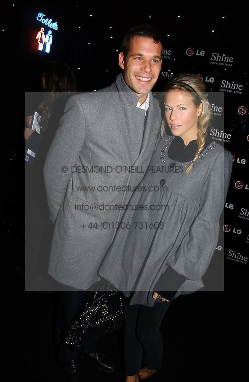 ARCHIE KESWICK and ALICE RUGGE PRICE at the launch of he LG 'Shine' Black Label Series mobile phone held at Cirque, Leicester Square, London W1 on 7th February 2007.<br />