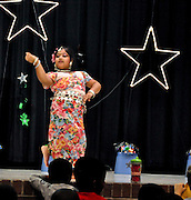 "10/23/09  -  Atlanta, Ga :  Students at Sagamore Hills Elementary School including Farah Ulfat with ""Hill Dance"" perform their skits during the 2009 talent show featuring dance, music, comedy and other performances for the annual Showcase of Stars on Friday, October 23, 2009. Director Nancy Briggs, and assistant directors Joe Scivicque and Teresa Libbey helped produce more than 30 acts.    David Tulis         dtulis@gmail.com    ©David Tulis 2009"