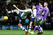 Preston North End striker Tom Barkhuizen (29) during the EFL Sky Bet Championship match between Preston North End and Bolton Wanderers at Deepdale, Preston, England on 17 November 2017. Photo by Craig Galloway.