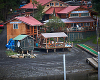 Island Point Lodge along the Wrangell Narrows. Image taken with a Nikon D300 camera and 70-300 mm VR lens.