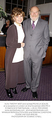Actor TIMOTHY WEST and actress PRUNELLA SCALES, at a reception in London on 2nd November 2002.	PFS 3