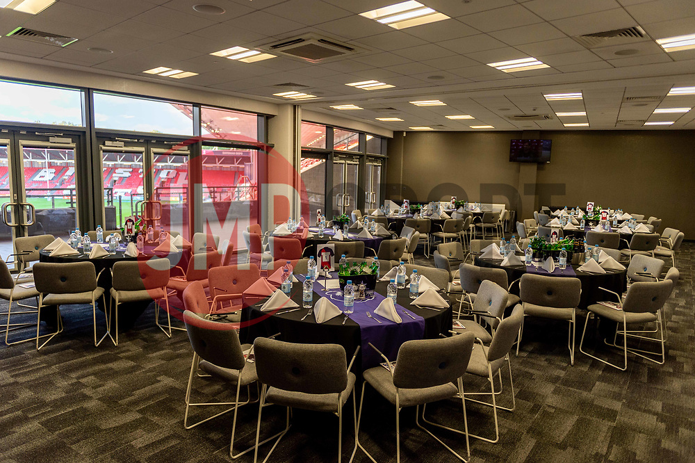 General views of the Dolman Lounges before gates open at Ashton Gate - Mandatory by-line: Ryan Hiscott/JMP - 18/10/2019 - RUGBY - Ashton Gate - Bristol, England - Bristol Bears v Bath Rugby - Gallagher Premiership Rugby