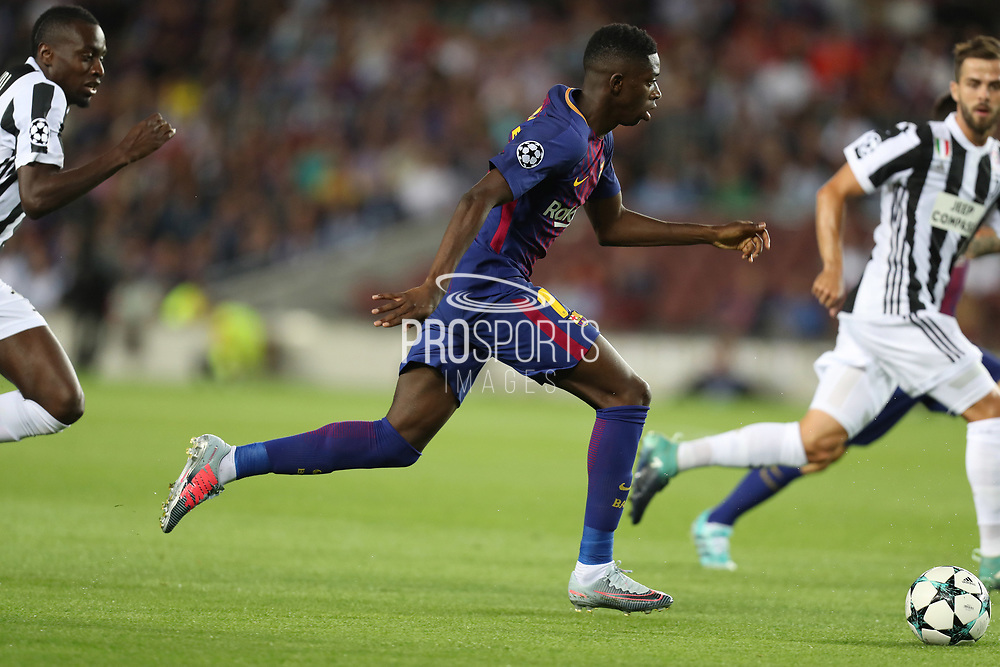 Ousmane Dembele of FC Barcelona during the UEFA Champions League, Group D football match between FC Barcelona and Juventus FC on September 12, 2017 at Camp Nou stadium in Barcelona, Spain. Photo: Manuel Blondeau/AOP.Press/ProSportsImages / DPPI