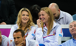 November 10, 2018 - Prague, Czech Republic - Lucie Safarova & Petra Kvitova of the Czech Republic watch their team mates at the 2018 Fed Cup Final between the Czech Republic and the United States of America (Credit Image: © AFP7 via ZUMA Wire)