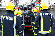 London Fire Brigade, station training session on the secod floor of the tower.