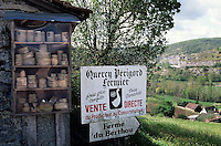 May 1996, St.-Sozy, France --- Sign for a Goose Farm --- Image by © Owen Franken