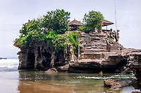 Bali, Tabanan, Tanah Lot temple at daylight.