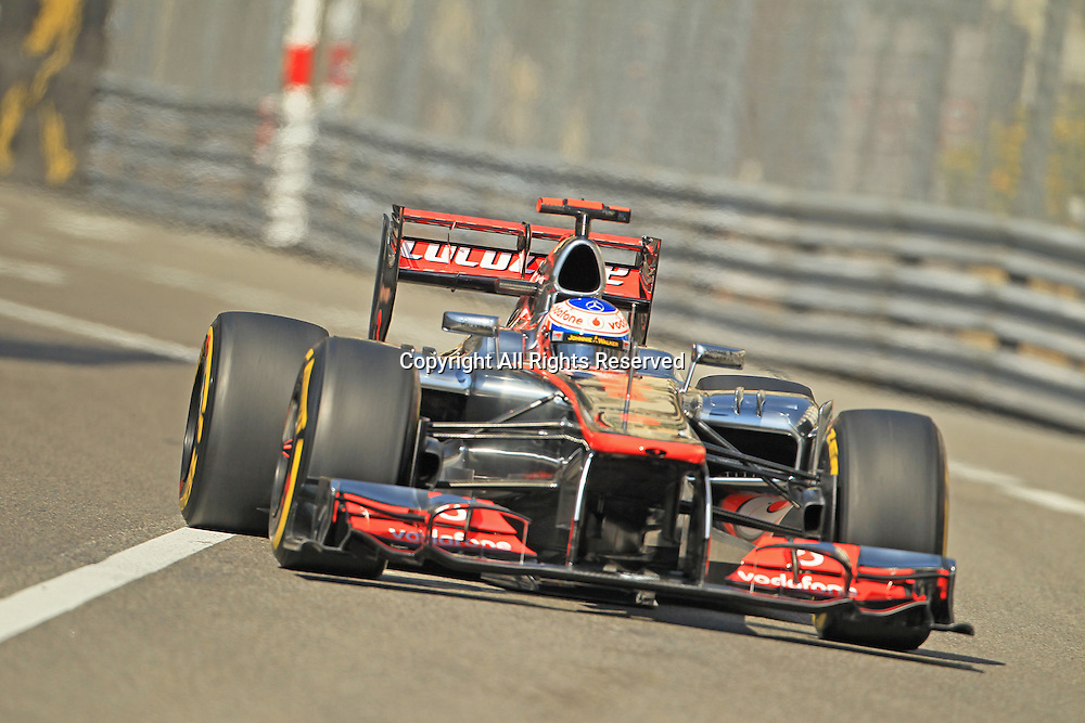 24.05.2012.Monte Carlo, Monaco.  Monte carlo Formula One Grand Prix. Jenson Button during practice on Thursday morning of the Monaco GP