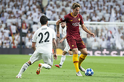 September 19, 2018 - Madrid, Spain - Real Madrid Francisco Alarcon 'Isco' and A.S. Roma Nicolo Zaniolo during UEFA Champions League match between Real Madrid and A.S.Roma at Santiago Bernabeu Stadium in Madrid, Spain. September 19, 2018. (Credit Image: © Coolmedia/NurPhoto/ZUMA Press)