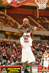 Greg Dilligard<br /> <br /> 03 December 2005: The Illinois State Redbirds shot a stunning 61% in the 2nd half as the University of Wisconsin Phoenix fell to the hosts  59-51during the late afternoon game at Redbird Arena in Normal IL