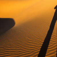 Self shadow portrait in the Sahara Desert