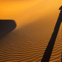 Self shadow portrait in the Sahara Desert