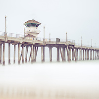 Huntington Beach Pier panorama picture in Orange County Southern California