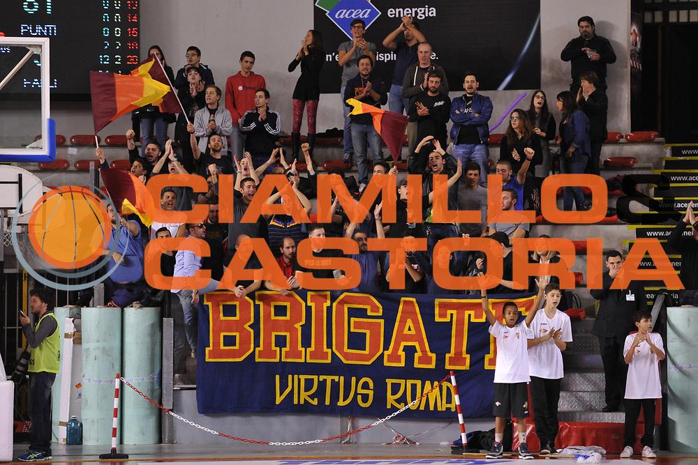 DESCRIZIONE : Roma LNP A2 2015-16 Acea Virtus Roma Assigeco Casalpusterlengo<br /> GIOCATORE : Tifosi Acea Roma<br /> CATEGORIA : tifosi pubblico esultanza<br /> SQUADRA : Acea Virtus Roma<br /> EVENTO : Campionato LNP A2 2015-2016<br /> GARA : Acea Virtus Roma Assigeco Casalpusterlengo<br /> DATA : 01/11/2015<br /> SPORT : Pallacanestro <br /> AUTORE : Agenzia Ciamillo-Castoria/G.Masi<br /> Galleria : LNP A2 2015-2016<br /> Fotonotizia : Roma LNP A2 2015-16 Acea Virtus Roma Assigeco Casalpusterlengo