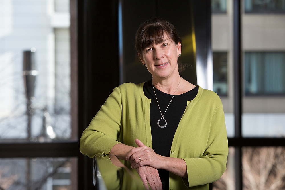 12/09/2016 - Boston, Mass. - Sarah Booth, the newly appointed Director of the Human Nutrition Research Center on Aging (HNRCA), poses for a portrait on Dec. 9, 2016. (Courtesy Anna Miller for Tufts University)