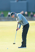 Marcel Siem putts on the first green, during the third round of the Alfred Dunhill Links Championships 2018 at St Andrews, West Sands, Scotland on 6 October 2018.