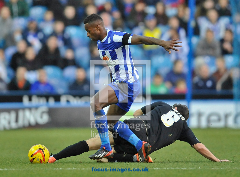 Picture by Richard Land/Focus Images Ltd +44 7713 507003<br /> 21/12/2013<br /> Jose Semedo of Sheffield Wednesday and Harry Arter of Bournemouth during the Sky Bet Championship match at Hillsborough, Sheffield.