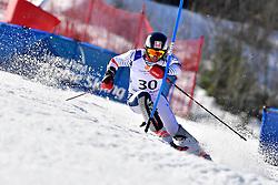 BROISIN Jordan, LW4, FRA, Slalom at the WPAS_2019 Alpine Skiing World Cup Finals, Morzine, France