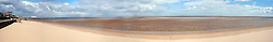 A Panorama of joined images looking from the leisure centre down towards Cleethorpes peer..14th September2011 Image © Paul David Drabble