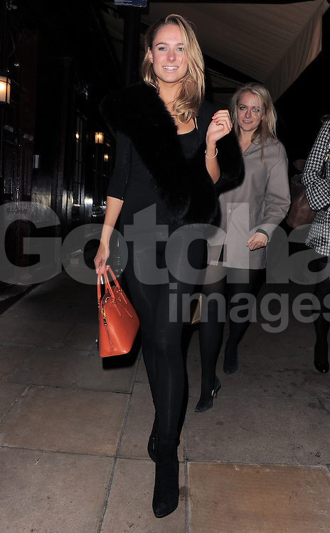 Made in Chelsea star Kimberley Garner leaving Loulou's nightclub in Mayfair, London, UK. 30/11/2012<br />BYLINE MUST READ : GOTCHAIMAGES.COM<br /><br />Copyright by &copy; Gotcha Images Ltd. All rights reserved.<br />Usage of this image is conditional upon the acceptance <br />of Gotcha Images Ltd, terms and conditions available at<br />www.gotchaimages.com