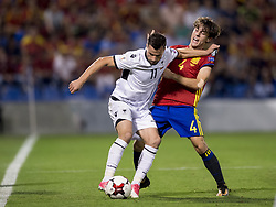 October 6, 2017 - Alicante, Spain - Odriozola (Real Sociedad) and Azdren Llullaku during the qualifying match for the World Cup Russia 2018 between Spain and Albaniaat the Jose Rico Perez stadium in Alicante, Spain on October 6, 2017. (Credit Image: © Jose Breton/NurPhoto via ZUMA Press)