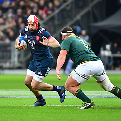 (L-R) Kevin Gourdon of France and Wilco Louw of South Africa during the test match between France and South Africa at Stade de France on November 18, 2017 in Paris, France. (Photo by Dave Winter/Icon Sport)