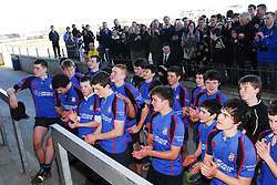 Rice College Westport about to be presented the Schools Junior Cup...Pic Conor McKeown