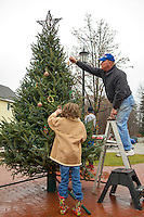 Tree decorating with the Greater Meredith Program Saturday, December 8, 2012.  Karen Bobotas/for the Laconia Daily Sun