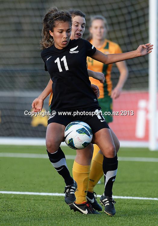 Chloe Knott. New Zealand Junior Football Ferns v Australia Young Matildas. Women's U20 International. Match 3. Seddon Fields, Auckland. Monday 29 July 2013. Photo: Andrew Cornaga/www. Photosport.co.nz