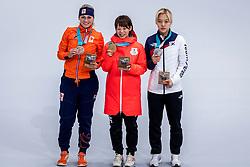 24-02-2018: Olympische Spelen: Dag 15: Pyeongchang<br /> Irene Schouten heeft op de Winterspelen de bronzen medaille gepakt op de massastart. Nana Takagi (goud) uit Japan en Kim Bo-Reum uit Zuid-Korea bleven de 25-jarige Nederlandse voor.