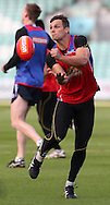 Picture by Paul Terry/SLIK images +44 7545 642257. 1st November 2012. .Western Bulldogs players during training session ahead of Saturday's Elastoplast AFL European Challenge at Kia Oval in London, UK
