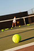Practicing Tennis Serve