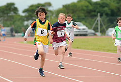 Liam Marshall Aughagower and Ethan Duffy Balla in action at the Mayo Community Games.<br /> Pic Conor McKeown