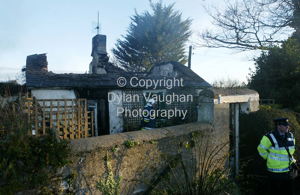 23/2/2004.The scene of the fire on the Waterford road in Carrick On Suir..Picture Dylan Vaughan