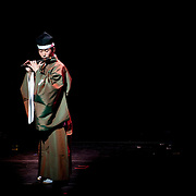 "April 9, 2011 - Manhattan, NY : Sadahiro Kakitani performs the ryuteki during the Japan Society's  all-day special ""Concert For Japan"" charity event on Saturday. (This was taken during the Open Concert: Japanese Traditional Music set)... CREDIT: Karsten Moran for The New York Times."