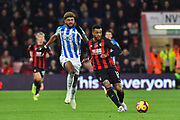 Joshua King (17) of AFC Bournemouth passes the ball during the Premier League match between Bournemouth and Huddersfield Town at the Vitality Stadium, Bournemouth, England on 4 December 2018.