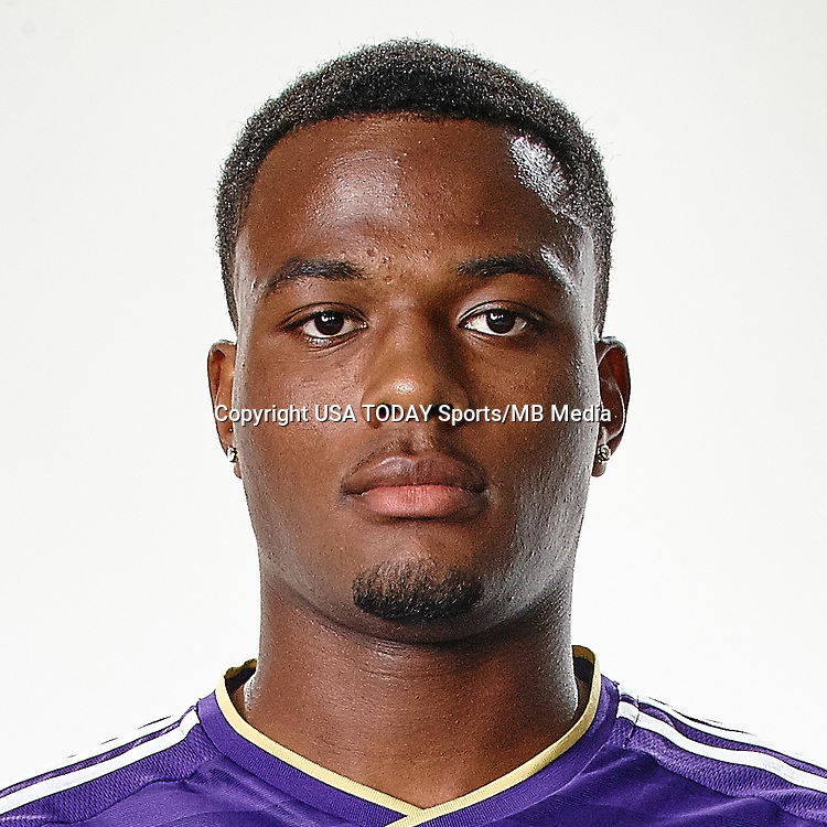 Feb 25, 2016; USA; Orlando City SC player Cyle Larin poses for a photo. Mandatory Credit: USA TODAY Sports