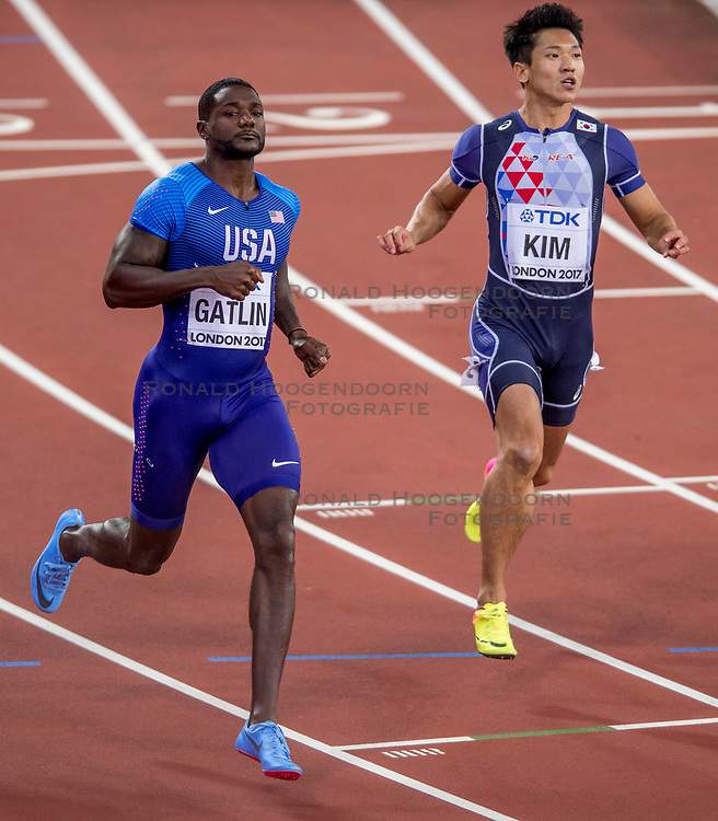 04-08-2017 IAAF World Championships Athletics day 1, London<br /> Justin Gatlin USA 100 m