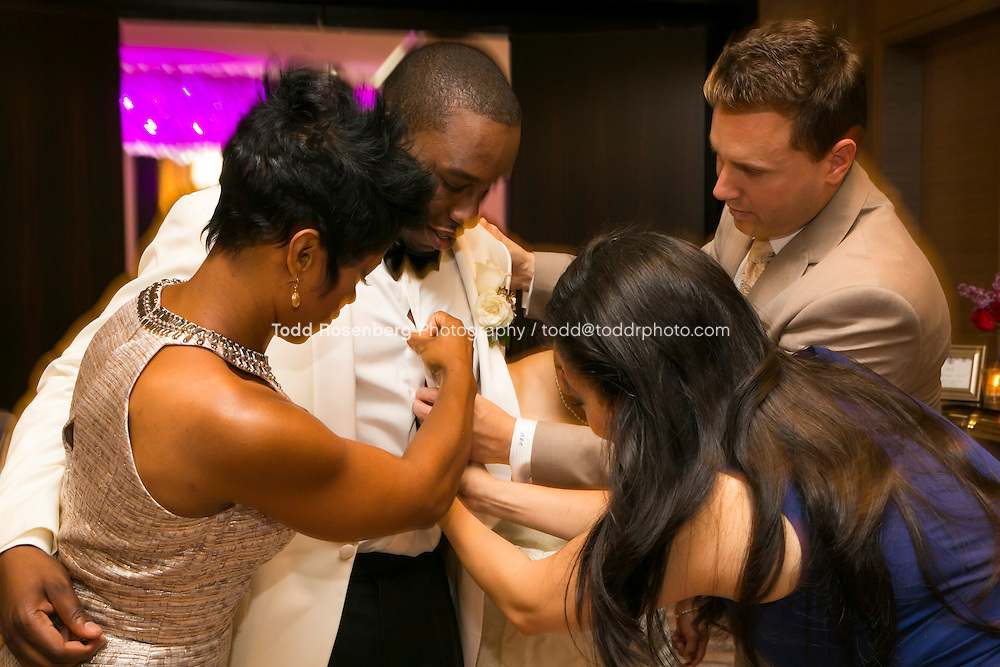 5/21/13 12:20:39 PM .The wedding of April and Sakou on Windy City Live... . © Todd Rosenberg Photography 2013