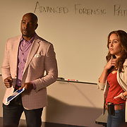 "ROSEWOOD: Pictured L-R: Morris Chestnut and Jaina Lee Ortiz in the ""Tree Toxin & 2 Stories"" episode on ROSEWOOD airing Thursday, Nov. 3 (8:00-8:59 PM ET/PT) on FOX. ©2016 Fox Broadcasting Co. CR: Eddy Chen/FOX"