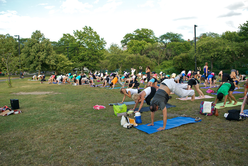 "20110727, Wednesday, July 27, 2011, Boston, MA, USA, LIGHTCHASER PHOTOGRAPHY IMAGE, The Esplanade Association hosted Betty Riaz instructor from Stil Yoga of Dedham and instructor Karen DeTemple for a session of PranaVayu Yoga on the Esplanade's ""island"" Wednesday evening for sunset yoga part of the association's summer ""Healthy, Fit and Fun"" program in partnership with the Department of Conservation and Recreation...( lightchaser photography image by j. kiely jr. © 2011 )"