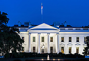 The White House, home and office of the US President, Washington D.C., USA