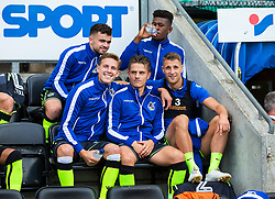 Bristol Rovers subs pose before kick off - Mandatory by-line: Matt McNulty/JMP - 16/09/2017 - FOOTBALL - DW Stadium - Wigan, England - Wigan Athletic v Bristol Rovers - Sky Bet League One