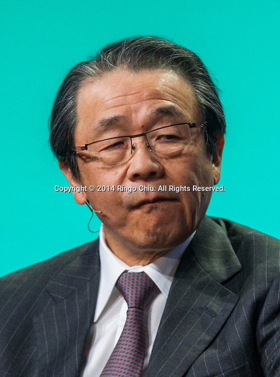 """Osamu Nagayama, chairman and CEO of Chugai Pharmaceutical Co., Ltd.; chairman of Sony Corporation, in a panel """"Global Overview: Where Does Growth Come From?"""" during the Milken Institute Global Conference on Monday, April 28, 2014 in Beverly Hills, California. (Photo by Ringo Chiu/PHOTOFORMULA.com)"""