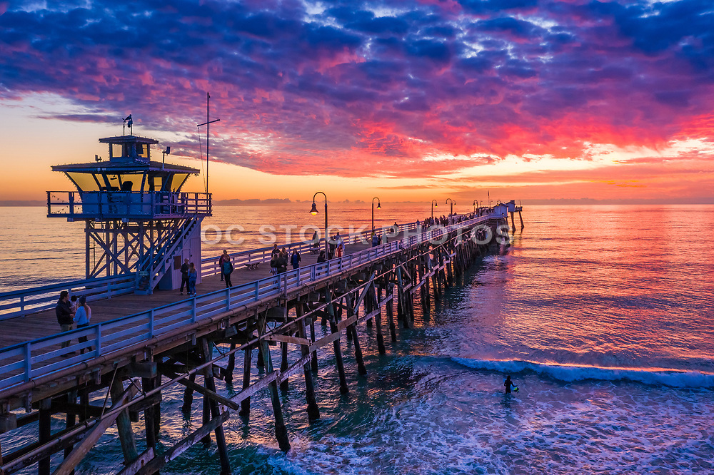 San Clemente Pier Sunset in December