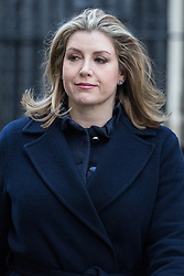 London, UK. 8th January, 2019. Penny Mordaunt MP, Secretary of State for International Development, leaves 10 Downing Street following the first Cabinet meeting since the Christmas recess.