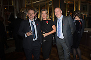 ANDREW MARR; ANNALIES VAN DEN BELT; JEFF JAMES The launch of the 1939 Register, hosted by The National Archives and Findmypast to celebrate one of the most important documents in modern British history. POMPADOUR BALLROOM, HOTEL CAF&Eacute; ROYAL<br /> 68 Regent Street, London. 3 November 2015