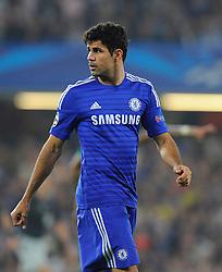 Chelsea's Diego Costa  - Photo mandatory by-line: Joe Meredith/JMP - Mobile: 07966 386802 - 17/09/2014 - SPORT - FOOTBALL - London - Stamford Bridge - Chelsea v Schalke 04 - Champions League Group Stage