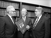 1987 - Presentation of I.H.F. report to C.J. Haughey, T.D., Leader of Fianna Fail