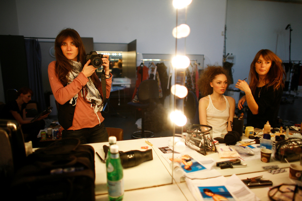 """Friday April 11th 2008.  .Issy les Moulineaux (Hauts de Seine), France.In the photo studios of the press group Marie-Claire during a fashion shoot for the magazine """"Marie France""""..Boulevard des Frères Voisins."""